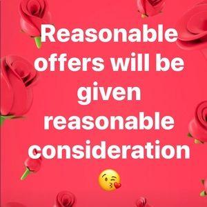 Reasonable Offers given Reasonable Consideration